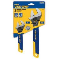 Vise Grip 2078700 2 Piece Adjustable Wrench Display (6 & 10)-1