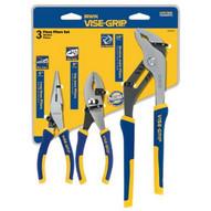 Vise Grip 2078704 3 Piece Pro Plier Set(6long Nose& Slip/10 Groo-1