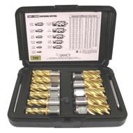 Jancy 70350CTN Cobalt Tini Slugger Cutter Set of 1 inch Depth Cutters Sizes 7/16-1-1/16 inch-1