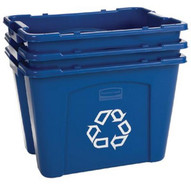 Rubbermaid Commercial 5714-73-BLUE 14 Gal Recycling Box-1
