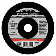 Metabo 655332000 4-1 2 x .045 x 7 8 A 60 TZ For Steel Stainless Steel Qty: 100 in package-1