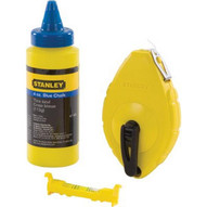 Stanley 47-443 Chalk Box With Blue Chalk And Line Level-1