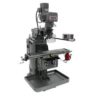 Jet 690642 Jtm-1050evs2230 Mill With 3-axis Newall Dp700 Dro (knee) With X And Y-axis Powerfeeds And Air Powered Draw Bar-1