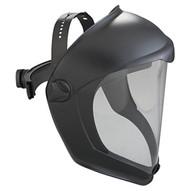 Uvex S8510 Bionic Black Matte Faceshield Clear Pc Lens-1