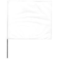 Presco 4521W 4x5x21 Wire White Stake Flag (100 EA)-1