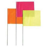 Presco 4524W 4x5x24 Wire White Stake Flag (100 EA)-1