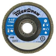 Weiler 51114 4-1 2 Tiger Paw Abrasive Flap Disc- Flat- - 60z-1