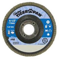 Weiler 51126 4-1 2 Tiger Paw Abrasive Flap Disc- Angled- 80z-1