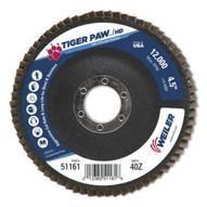 Weiler 51161 4-1 2 Tiger Paw Super High Density Flap Disc F-1