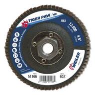 Weiler 51166 4-1 2 Tiger Paw Super High Density Flap Disc F-1
