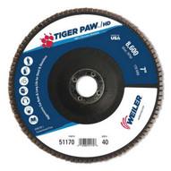 Weiler 51170 7 Vpro Super High Density Flap Disc Flat Phen-1