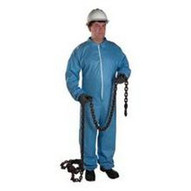 West Chester 3106 4XL Posi-wear Fr - Blue Coverall Zipper Front And Co-1