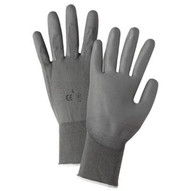 West Chester 713SUCG M Gray Pu Palm Coated Graynylon Gloves-1