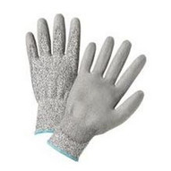 West Chester 720DGU S Gray Pu Palm Coated Speckle Gray Hppe Gloves-1