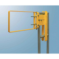 Fabenco A94-36 Stainless Steel Clamp-on Self-closing Safety Gate Fits 37-39.5 Opening 12 Vertical Coverage-3