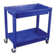 Astro Pneumatic 8330 Heavy Duty Plastic 2 Shelfutility Cart - Black Color-1