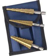 Astro Pneumatic 9445 Titanium Step Drill Bit Set 1 8-1 2;3 16-1 2;1 4-3 4-1