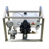 Airhydro APU-1-107T-PIV Hydrostatic Test Pump - Portable - Air Operated - High Pressure - 10700 Psi - With Tank-1