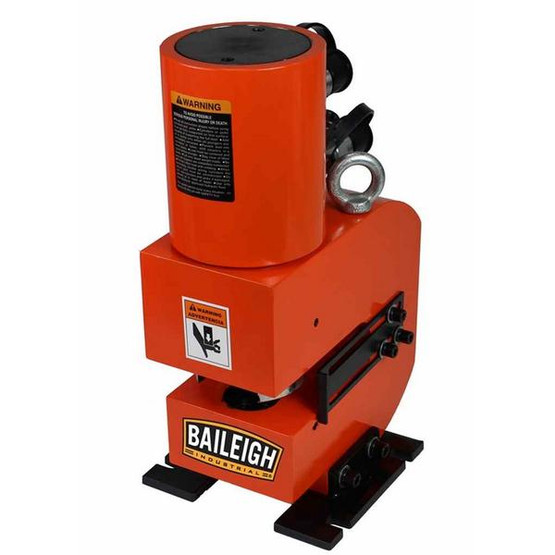 Baileigh HP-50H 110 Volt 50 Ton Hydraulic Punch Includes 5 Sets Of Punches And Hydraulic System-5