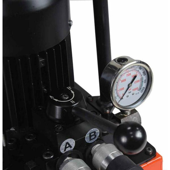 Baileigh HP-50H 110 Volt 50 Ton Hydraulic Punch Includes 5 Sets Of Punches And Hydraulic System-2