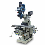 Baileigh VM-1054E-VS 220v 3ph Vertical Mill 10 X 54 Table Variable Speed Iso40 Spindle Coolant Power Feeds Dro-1
