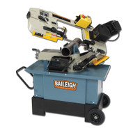 Baileigh Industrial Bs-712ms 110 Volt Metal Cutting Band Saw With Vertical Cutting Option. Mitering Head. 3 4 Blade Width.-1