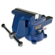 "Baileigh Industrial BV-8I 8"" Industrial Bench Vise With Integrated Pipe Jaws"