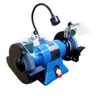 """Baileigh Industrial IGB-8 8"""" Industrial Bench Top Grinder, 110V Includes LED Work Light and Wheel Dresser"""
