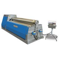Baileigh Industrial Pr-10500-4nc 480 Volt Three Phase 60 Hz Nc Controlled Four Roll Plate Roll. 120 X .5 Mild Steel Capacity-1