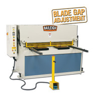 Baileigh Industrial Sh-5208-hd 220 Volt Three Phase Heavy Duty Hydraulic Shear. 52 Length 8 Gauge Mild Steel Capacity-1