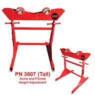 B & B Pipe Tools 3807 Mega Tall Pipe Roller Jack Stand 6000 LB Cap-1
