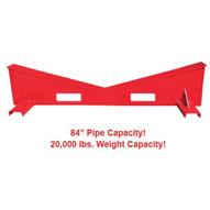 B & B Pipe Tools 3816 Mega Pipe Stand Block 20000 LB 2-84 Pipe Cap-1