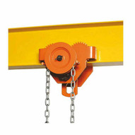 Bison Lifting GT010-20 1 Ton Geared Trolley 20' Lift-1