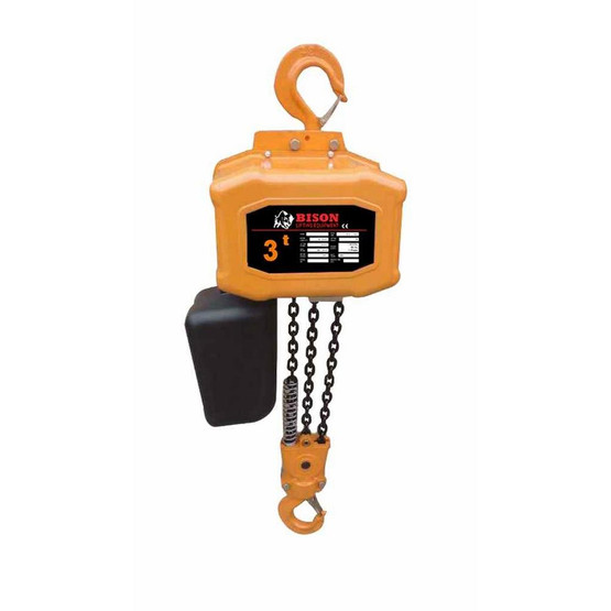 Bison Lifting HH-B30 3 Ton Single Phase 20' Electric Chain Hoist-1