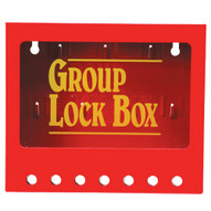 Brady 105714 Metal Wall Lock Box - Red-1