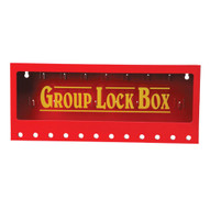 Brady 105715 Metal Wall Lock Box - Red-1