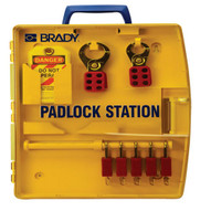 Brady 105928 Padlock Station W 5 Safety Padlocks-1