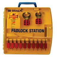 Brady 105930 Padlock Station W 10 Safety Padlocks-1