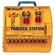 Brady 105931 Padlock Station W 10 Steel Padlocks-1