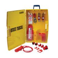 Brady 105934 Ready Access Valve & Electrical Lockout Station W safety Padlocks-1
