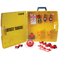 Brady 105940 Ready Access Electrical Lockout Station With Safety Padlocks-1