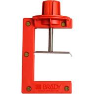 Brady 121505 Butterfly Valve Lockout - Large - Large - Red-1