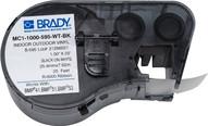 Brady MC1-1000-595-WT-BK 1.000 W x 25' H (25.400 mm W x 7.62 m H)-1