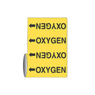 Brady 15586 Roll Form Pipe Markers - 12 X 30' - Black On Yellow-1