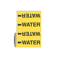 Brady 15598 Roll Form Pipe Markers - 12 X 30' - Black On Yellow-1