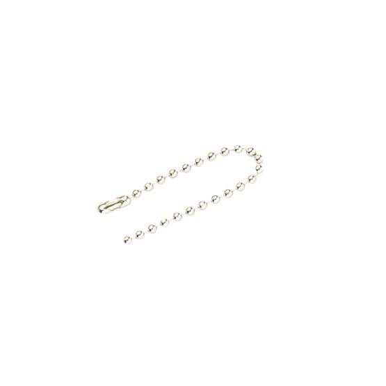 Brady 23307 #6 Nickel Plate Beaded Chain - 4 1 2 (100 per PK)-1