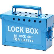 Brady 45190 Portable Metal Lock Box - Blue - Blue-1