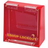 Brady LG003E Acrylic Wall Lock Box - Small - Red-1