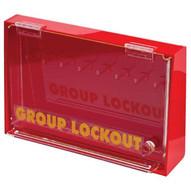 Brady LG008E Acrylic Wall Lock Box - Medium - Red-1