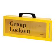 Brady LG252M Metal Wall Lock Box - Yellow-1